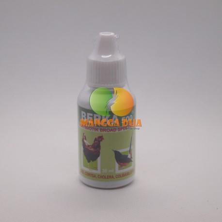 Berka 500 30 ml Original - Antibiotik untuk Berak Darah, Hijau, Kapur pada Unggas ( Ayam, Burung, Bebek )