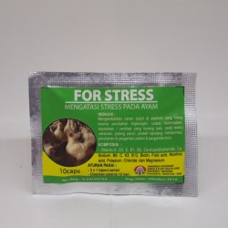 For Stress 10 Capsul Original - Mengatasi Stress pada Ayam