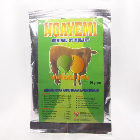 Ngayemi Sapi 50 Gram Original - Meningkatkan Nafsu Makan dan Pencernaan Sapi