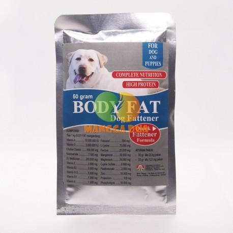 Body Fat Dog 50 Gram Original - Penggemuk Anjing Dog Fattener