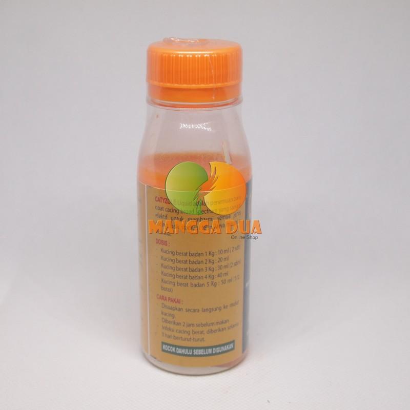 Catyzole Liquid 100 ml Original - Obat Cacing Untuk Kucing .