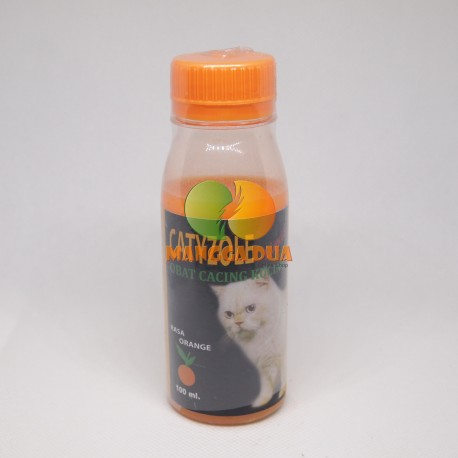 Catyzole Liquid 100 ml Original - Obat Cacing Untuk Kucing
