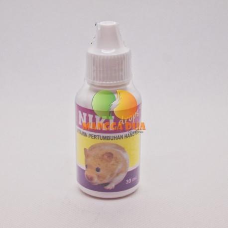 Niki Drop 30 ml Original  - Vitamin Pertumbuhan Hamster, Marmut, Gerbil, Mencit, Chincila, Landak