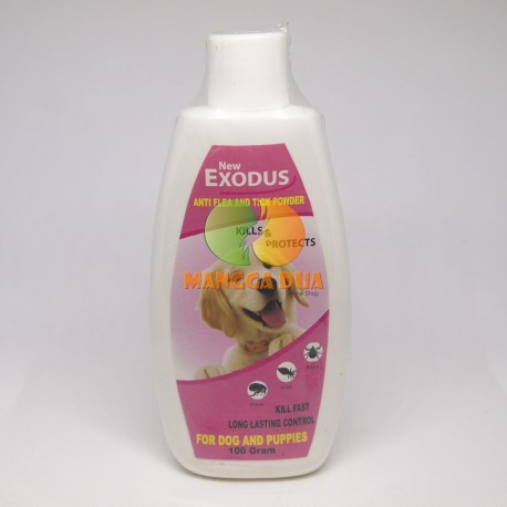 Bedak / Talk Powder Exodus Anti Flea Tick Dog 100 gram Original - Bedak Talc Anti Kutu Anjing