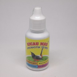 Kicau Mas 30 ml Original - Probiotik Burung Kicau Mas - Perangsang Bunyi Burung, Menjaga Stamina, Mencegah Stress Burung