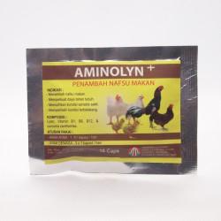 Aminolyn Plus 10 Capsul Original - Penambah Nafsu Makan Ayam