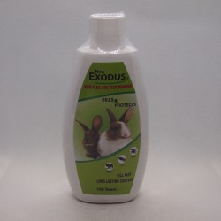 Bedak / Talk Powder Exodus Anti Flea Tick Rabbit 100 gram Original - Bedak Talc Anti Kutu Anak Kelinci