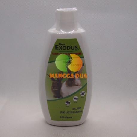 Bedak / Talk Powder Exodus Anti Flea Tick Rabbit 100 gram Original - Bedak Talc Anti Kutu Anak Kelinci