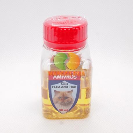 Amivros Cat Dog 30 ml Original - Obat Membasmi Kutu Kucing dan Anjing