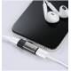MCDODO Mini Converter 2in1 Lightning Dual Port for Headphone and Charging with LED Earphone For iPhone XS MAX XR X 8 7 Plus