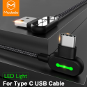 MCDODO USB Type C Gaming Fast Charging Android Charger USB-C Cable Braided L Shape 1.2 Meter