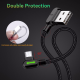 MCDODO USB Micro Gaming Fast Charging Android Charger Cable Braided L Shape 1.8 Meter