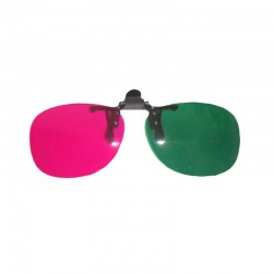Kacamata 3D Clip On Green Magenta ( Hijau Magenta ) Anaglyph - Best Seller