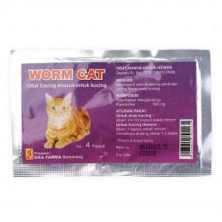Worm Cat 4 Capsul Original - Obat Cacing Khusus Kucing