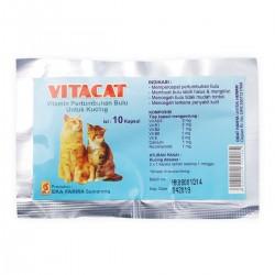 VitaCat 10 Capsul Original - Obat dan Vitamin Bulu Kucing