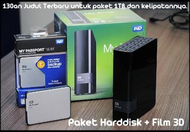 Paket Harddisk Promo bonus Film 3D