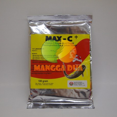 Max C+ 100 gram Original - Vitamin C Dosis Tinggi untuk Ikan