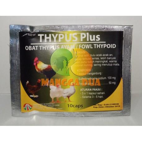 Thypus Plus 10 Capsul Original - Obat Anti Thypus Ayam Fowl Thypoid Typhoid Typhus Tifus Tifes Unggas