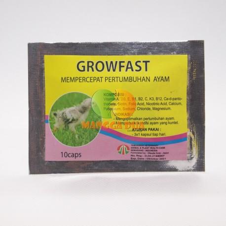 Growfast 10 Capsul Original - Mempercepat Pertumbuhan Anak Ayam dan Ayam