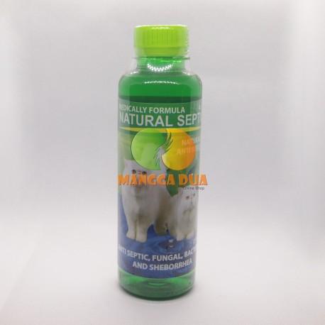 Natural Septic Cat Dog 125 250 500 600 1000 5000 ml Original - Shampoo Anti Septic, Koreng dan Bakteri Anjing Kucing