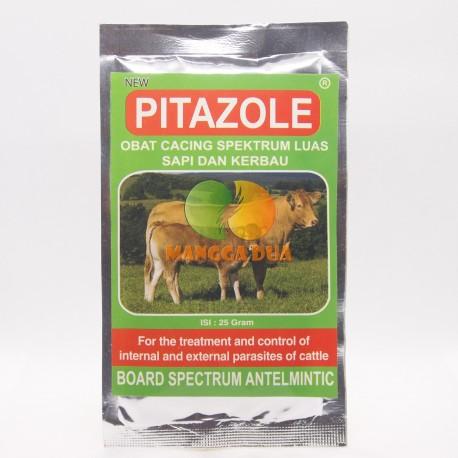 Pitazole 25 Gram Original - Obat Cacing Spektrum Luas Pita Ternak Sapi Kerbau Antelmintik
