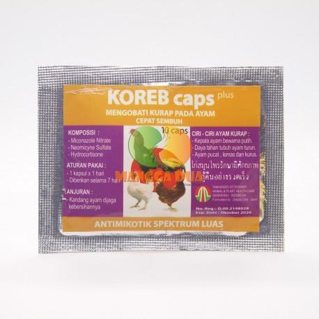 Koreb Caps 10 Capsul Original - Mengobati Kurap Pada Ayam
