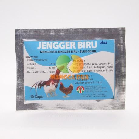 Jengger Biru Plus 10 Capsul Original - Mengobati jengger biru atau blue comb pada ayam