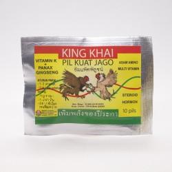 King Khai 10 Capsul - Pil Kuat Ayam Jago