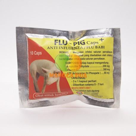 Flu Pig 10 Capsul Original - Obat Anti Influenza Babi Antibiotik