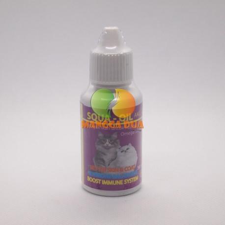 Squa Oil AKG 30 ml Original - Minyak Ikan Untuk Kucing