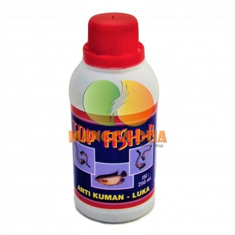 Top Fish 250 ml Original - Anti Bakteri, Kuman, Luka Pada Ikan