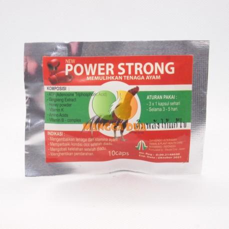 Power Strong 10 Capsul Original - Memulihkan Tenaga Ayam Setelah Diadu