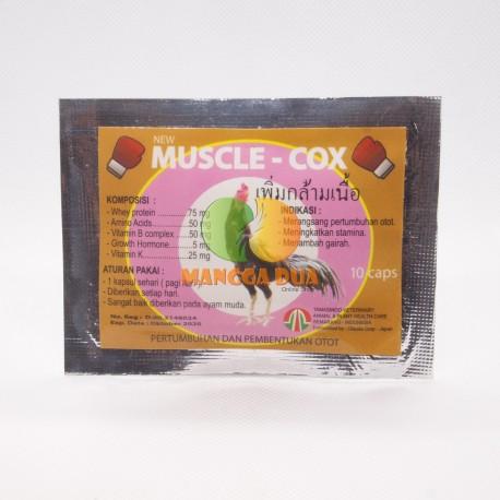 Muscle Cox 10 Capsul Original - Pertumbuhan dan pembentukan otot ayam