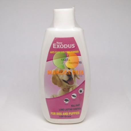 Bedak / Talk Powder Exodus Anti Flea Tick Dog 100 gram Original - Bedak Talc Anti Kutu Anjing