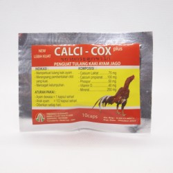 Calci Cox 10 Capsul Original - Penguat Tulang Kaki Ayam Jago