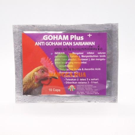 Goham Plus 10 Capsul Original - Anti Goham Dan Sariawan Ayam