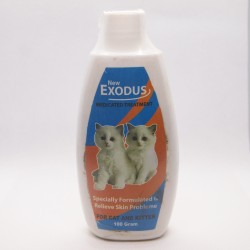 Bedak / Talk Powder Exodus Medicated Treatment Cat 100 gram Original - Bedak Talc untuk Anak Kucing