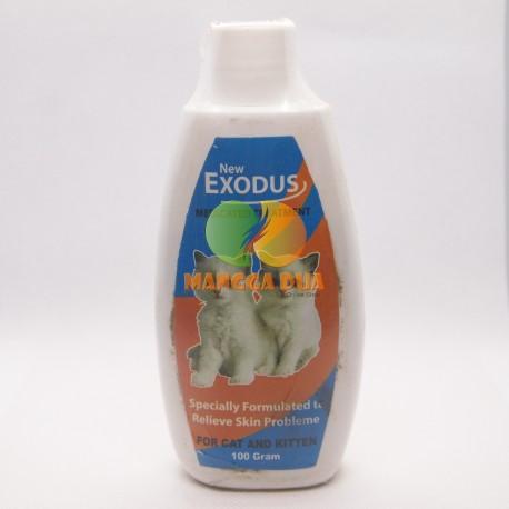 Bedak / Talk Powder Exodus Medicated Treatment Cat 100 gram Original - Bedak Talc untuk Anak Kucing