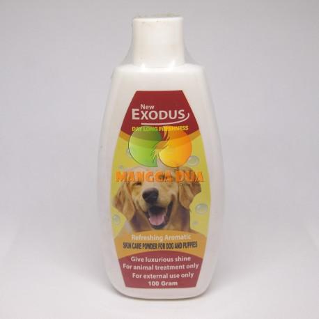 Bedak / Talk Powder Exodus Skin Care Dog 100 gram Original - Bedak Talc Skin Care Anjing