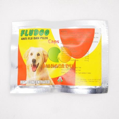 Flu Dog 10 Capsul Original - Obat Anti Influenza Anjing Puppies Antibiotik