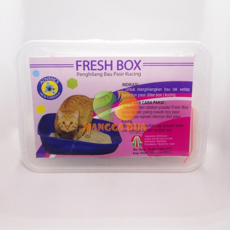 Fresh Box 1Kg Original - Penghilang Bau Pasir Kucing Anjing Bak Pasir Anjing Baskom