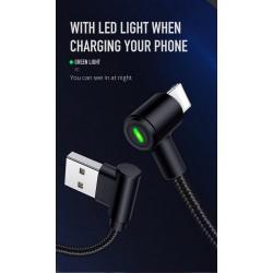 MCDODO USB Lightning Slim Gaming Fast Charging iPhone X XS MAX XR 8 7 6s Plus 5 iPad Cable Braided L Shape 1.2 Meter