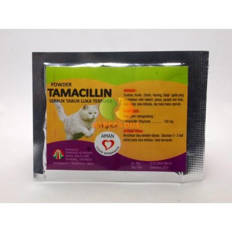 Tamacillin Cat 10 gram Original - Obat Luka Luar Bakar Eksim Serbuk Tabur Terbuka untuk Kucing Kitten