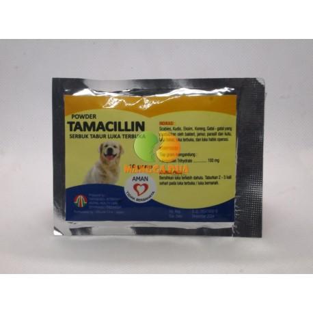 Tamacillin Dog 10 gram Original - Obat Luka Luar Bakar Eksim Serbuk Tabur Terbuka untuk Anjing Puppies
