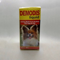 Demodis Liquid 100 ml Original - Obat Gatal Gudig Jamur Scabies Anjing Kucing Cat Dog Puppies