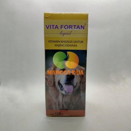 Vita Fortan Liquid 120 ml Original - Vitamin Anjing Dewasa Penambah Nafsu Makan Anjing