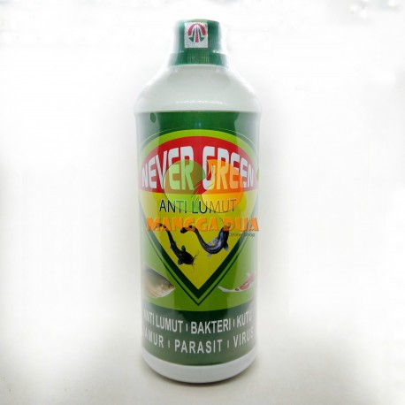 Never Green 1000 ml Original - Anti Lumut Untuk Air Kolam Tawar / Tambak