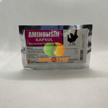 Aminolisin 10 Kapsul Original - Vitamin Khusus untuk Menambah Nafsu Makan Ayam