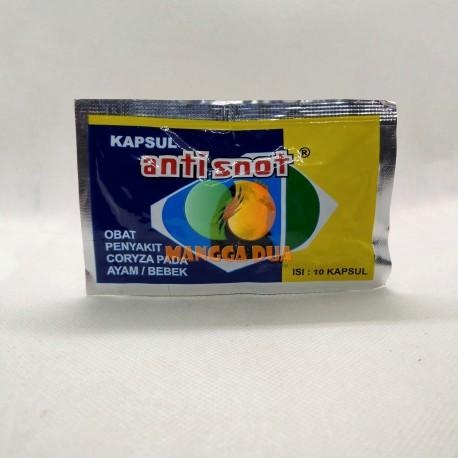 Anti Snot 10 Kapsul Original - Vitamin Obat Coryza untuk Ayam dan Bebek Pilek Sesak Nafas Radang Mata