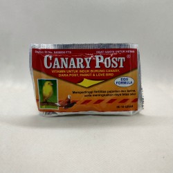 Canary Post 10 Kapsul Original - Vitamin Burung Canary Dara Post Parkit Love Bird Meningkatkan Fertilitas Pejantan Betina